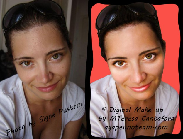 Photoshop digital makeup - make up digitale