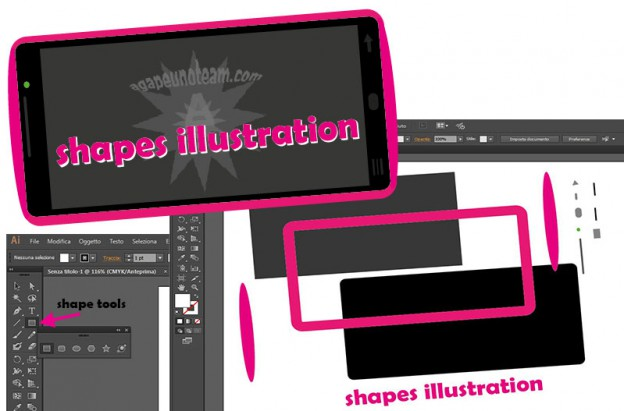 come creare figure con gli strumenti forma in Adobe Illustrator
