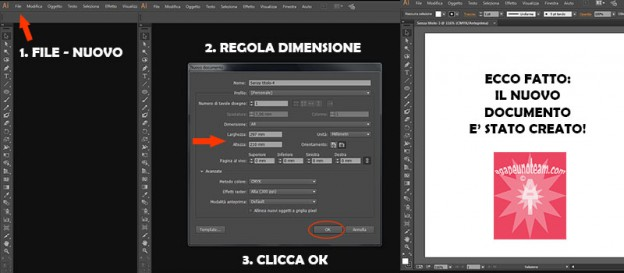 come creare nuovo documento con Adobe Illustrator