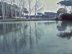 fantasy style photo - iced lake