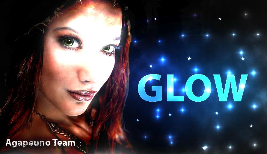 illustrazione glow in Photoshop