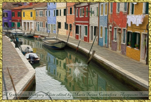 canale Burano Italy Photo by GaborfromHungary edited by AgapeunoTeam