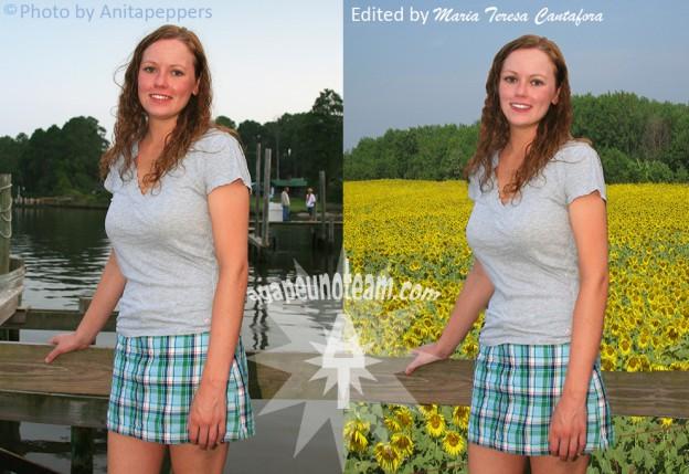 fotoritocco snellimento e come rimuovere figura da sfondo con maschera in Photoshop