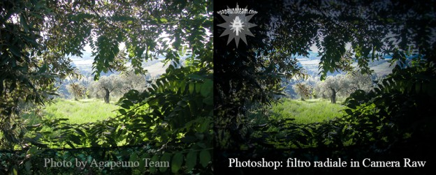 Photoshop e filtro radiale in Camera Raw