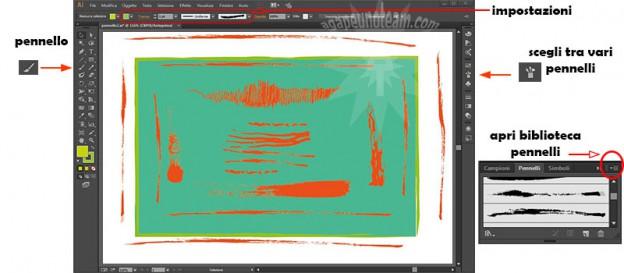 come usare pennello Adobe Illustrator