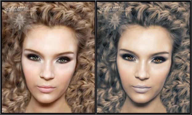 come cambiare colore ritratto